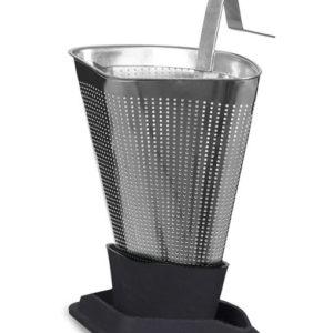 Viva tea strainer ash grey